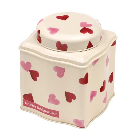 Pink Hearts Dome Lid Caddy