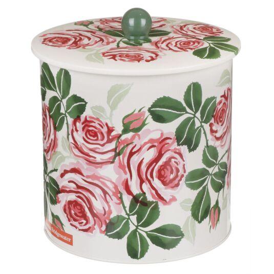 Pink Rose Biscuit Barrel