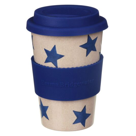 Sky Blue Stars Rice Husk Travel Cup