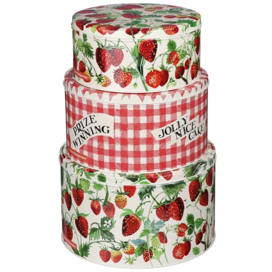 Strawberries Set of Three Round Cake Tins