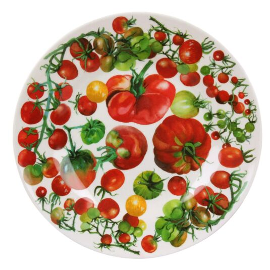 Vegetable Garden Two Tone Melamine Plate