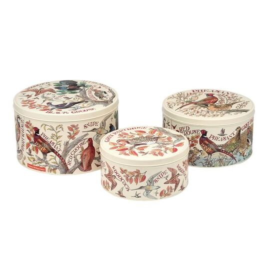 Game Birds Set of 3 Round Cake Tins