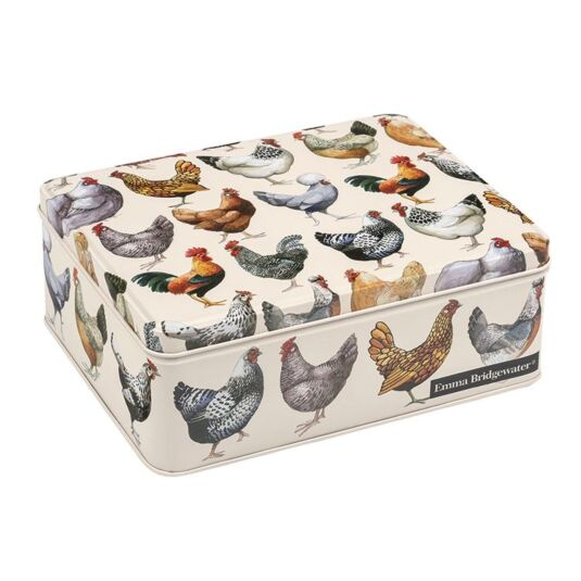 Hen Rectangular Tin