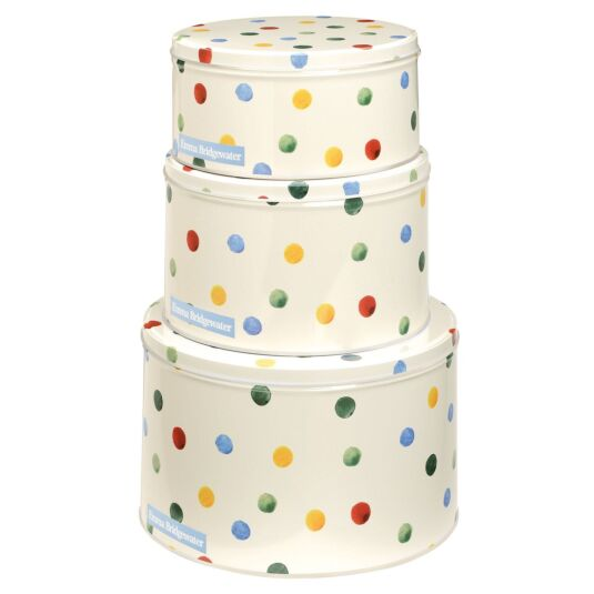 Polka Dots Set of Three Round Cake Tins
