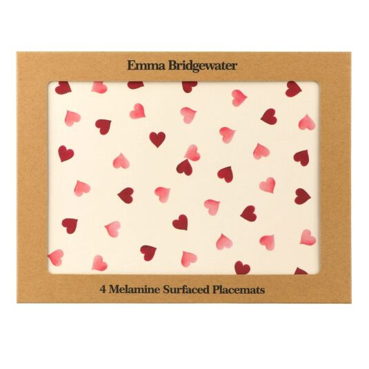 Pink Hearts Melamine Placemats