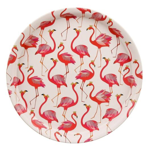 Flamingo Round Tray