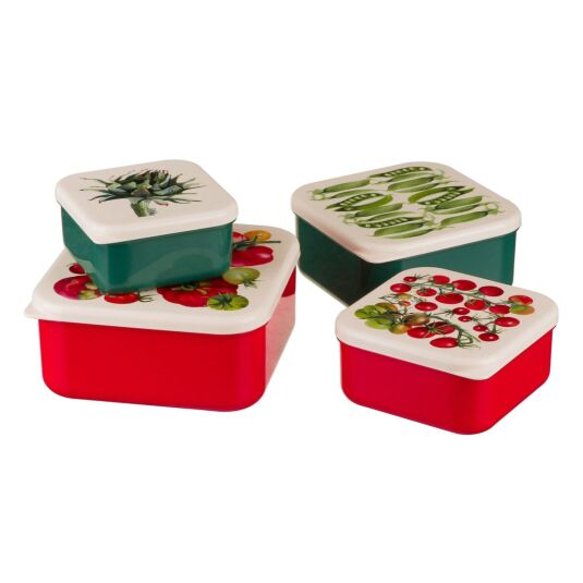 Set of Four Vegetable Garden Snack Tubs