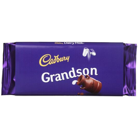 'Grandson' 110g Dairy Milk Chocolate Bar