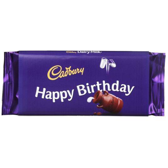 'Happy Birthday' 110g Dairy Milk Chocolate Bar