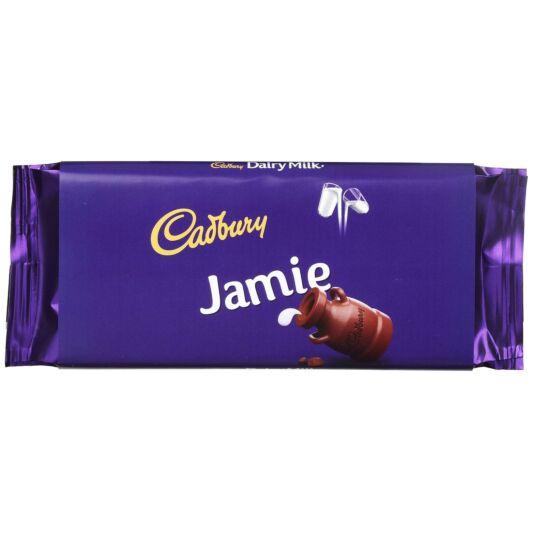 'Jamie' 110g Dairy Milk Chocolate Bar