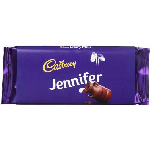 'Jennifer' 110g Dairy Milk Chocolate Bar
