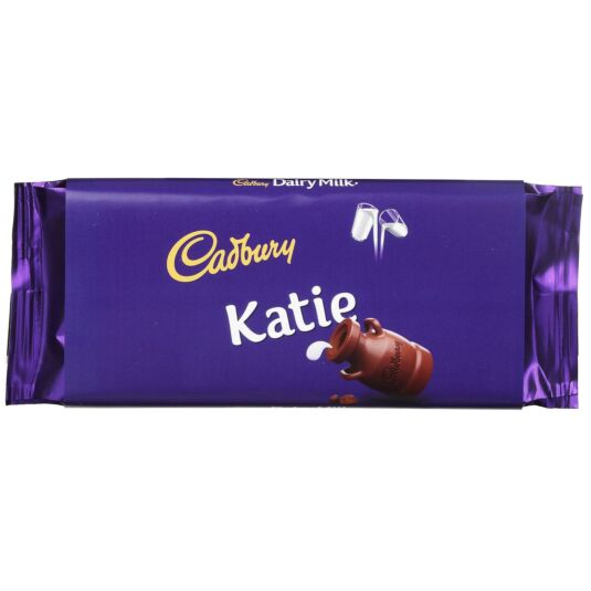 'Katie' 110g Dairy Milk Chocolate Bar