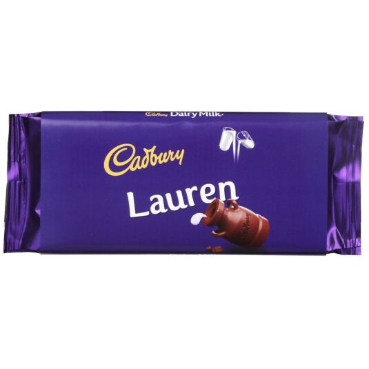'Lauren' 110g Dairy Milk Chocolate Bar