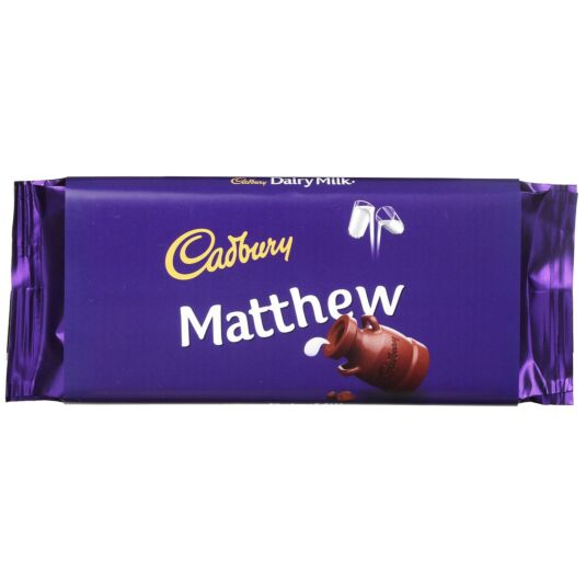 'Matthew' 110g Dairy Milk Chocolate Bar