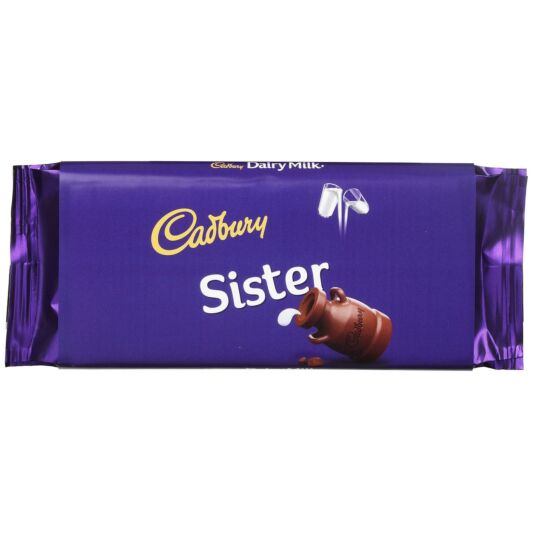 'Sister' 110g Dairy Milk Chocolate Bar
