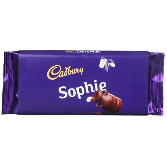'Sophie' 110g Dairy Milk Chocolate Bar
