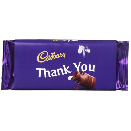 'Thank You' 110g Dairy Milk Chocolate Bar