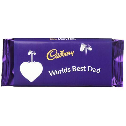 'World's Best Dad' 110g Dairy Milk Chocolate Bar