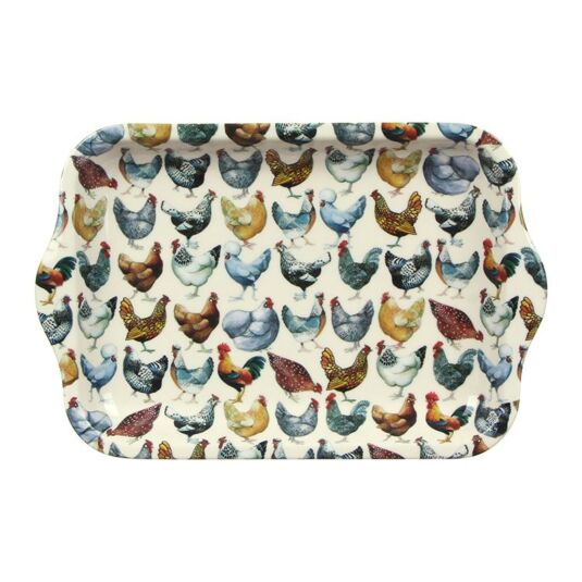 Hen Small Melamine Tray