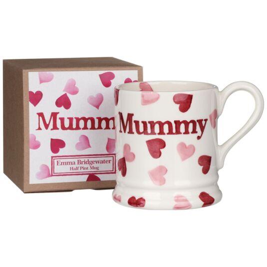 Pink Hearts Mummy Half Pint Boxed Mug