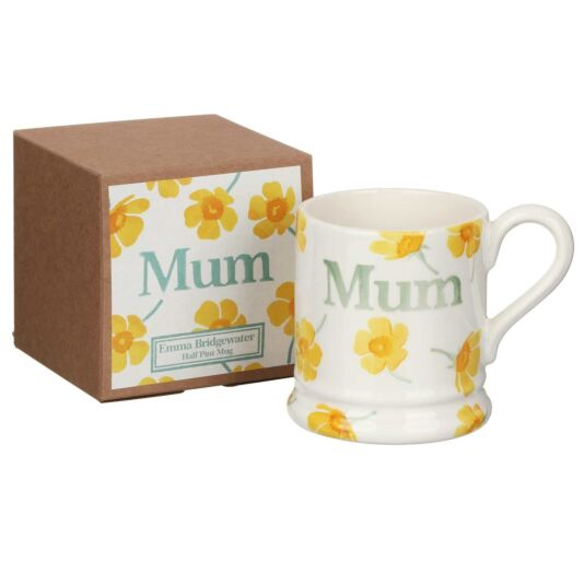Buttercup Scattered Mum Half Pint Mug Boxed