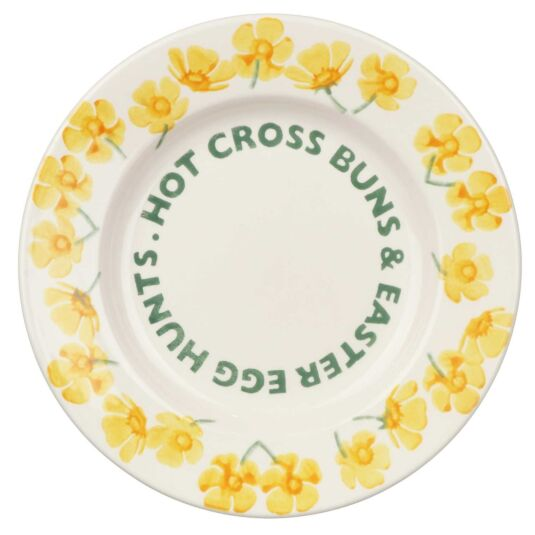 Buttercup Hot Cross Buns 8 ½ Inch Plate