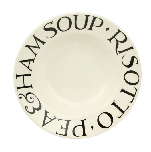 Black Toast Soup Plate