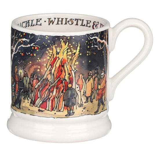 Bonfire Night Scene Half Pint Mug