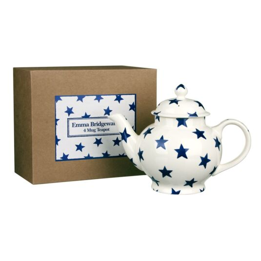 Blue Star Four Mug Teapot in Gift Box