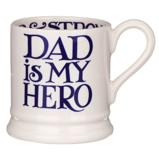 Blue Toast Dad is My Hero Half Pint Mug