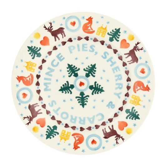 Christmas Brights 'Mince Pies' 8½ Inch Plate