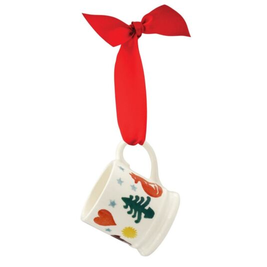 Christmas Brights Tiny Mug Boxed Tree Decoration
