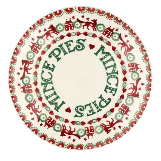 Christmas Joy Red And Green 8½'' Mince Pie Plate