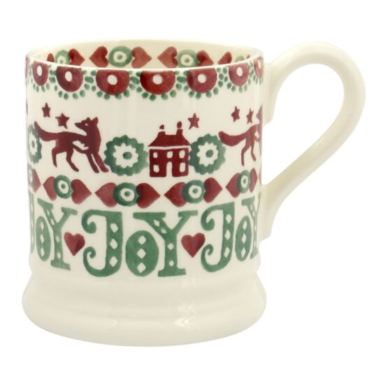 Christmas Joy Red & Green 1/2 Pint Mug    Emma Bridgewater