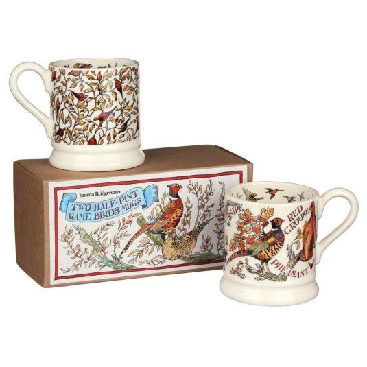 Roosting Pheasants Set of 2 ½ Pint Mugs