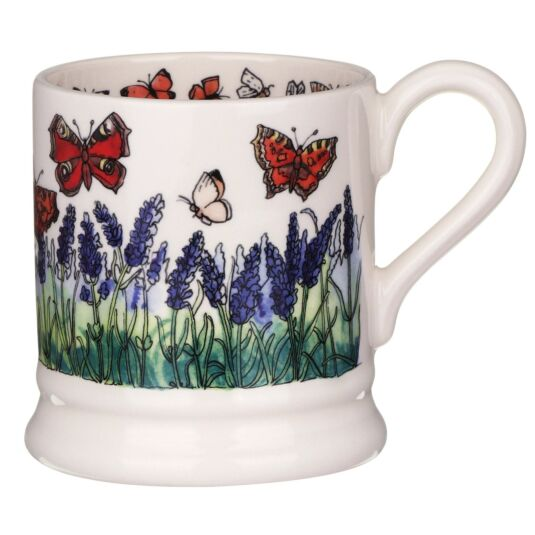 Lavender & Butterflies Half Pint Mug