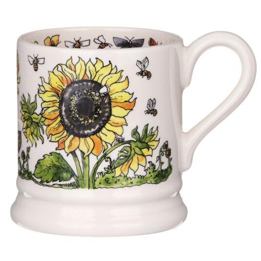 Sunflowers & Bees Half Pint Mug