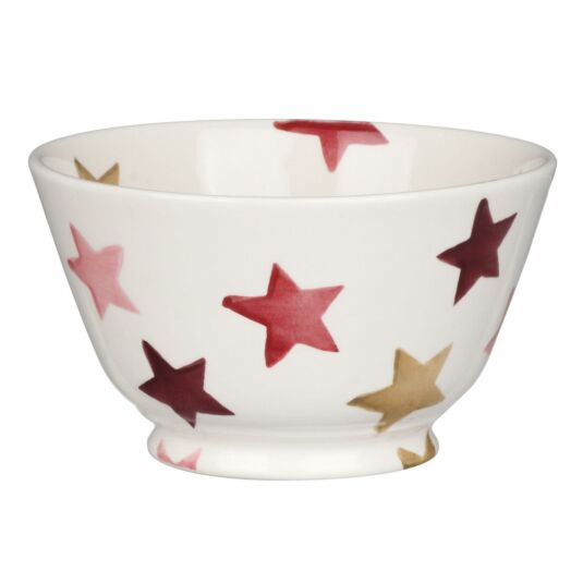 Pink & Gold Stars Small Old Bowl