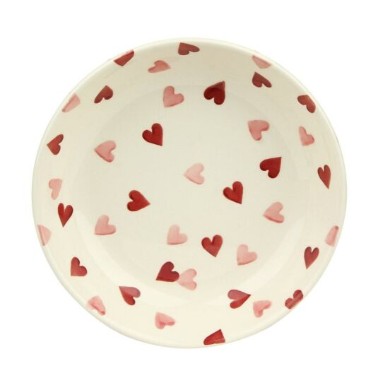 Pink Hearts Small Pasta Bowl