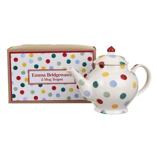 Emma Bridgewater Polka Dot Two Mug Boxed Teapot