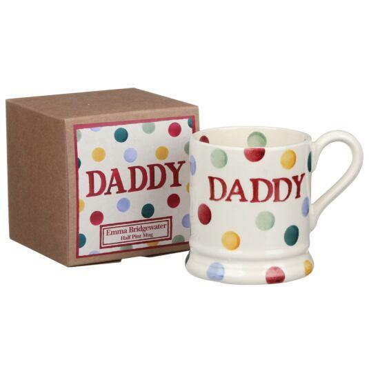 Polka Dot Daddy Half Pint Boxed Mug