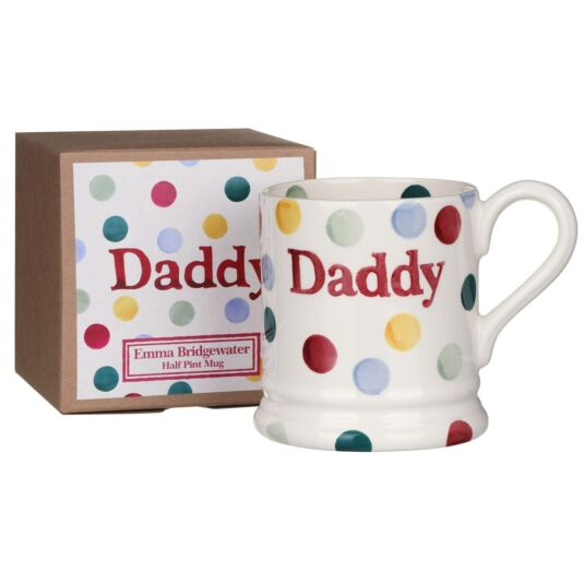Polka Dot Daddy Half Pint Boxed Mug