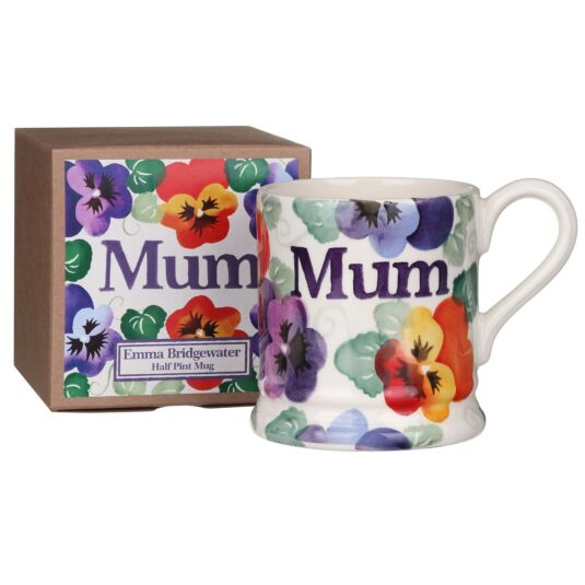 Purple Pansy Mum Half Pint Boxed Mug