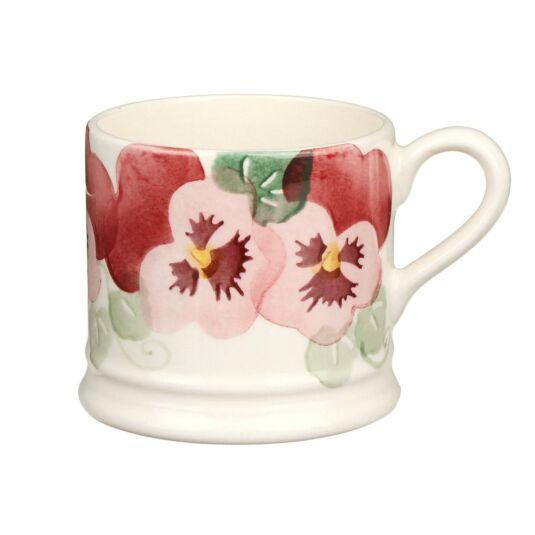 Pink Pansy Small Mug