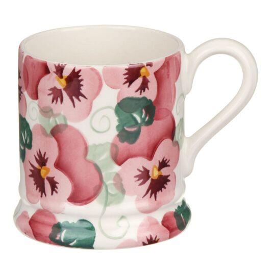 Pink Pansy Half Pint Mug