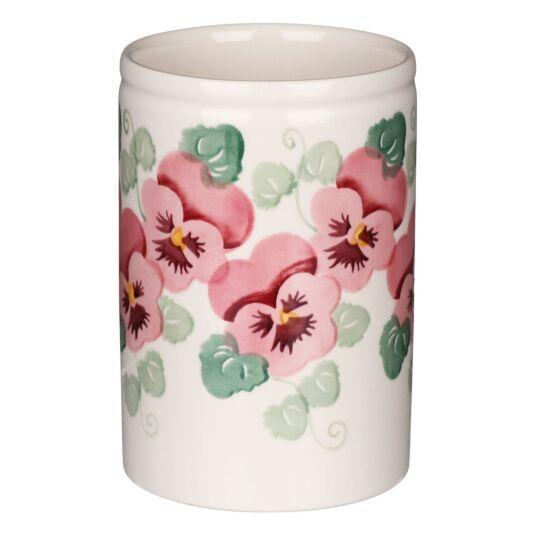 Pink Pansy Medium Vase