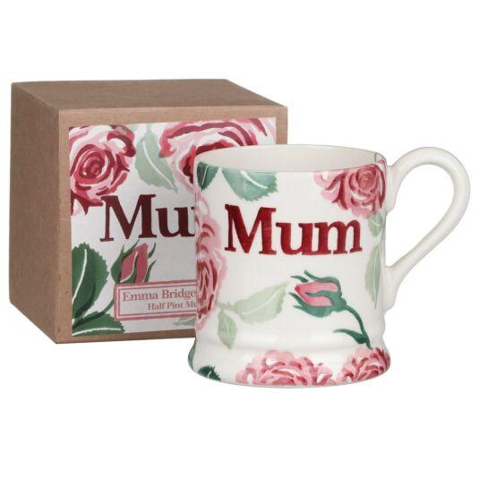 Pink Roses Mum Half Pint Mug Boxed