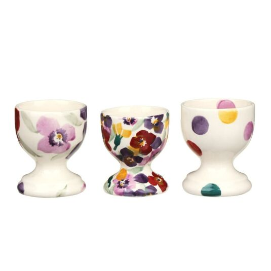 Emma Bridgewater Wallflower Set Of 3 Boxed Egg Cups