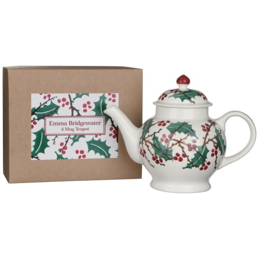 Winterberry Four Mug Boxed Teapot