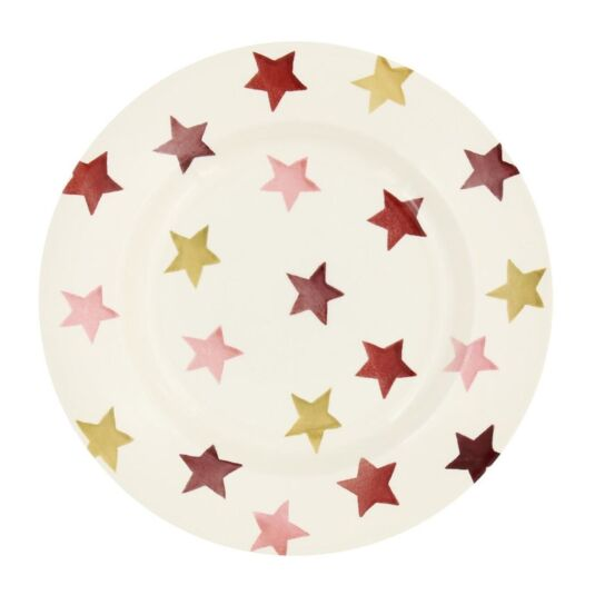 Pink & Gold Stars 8½ Inch Plate